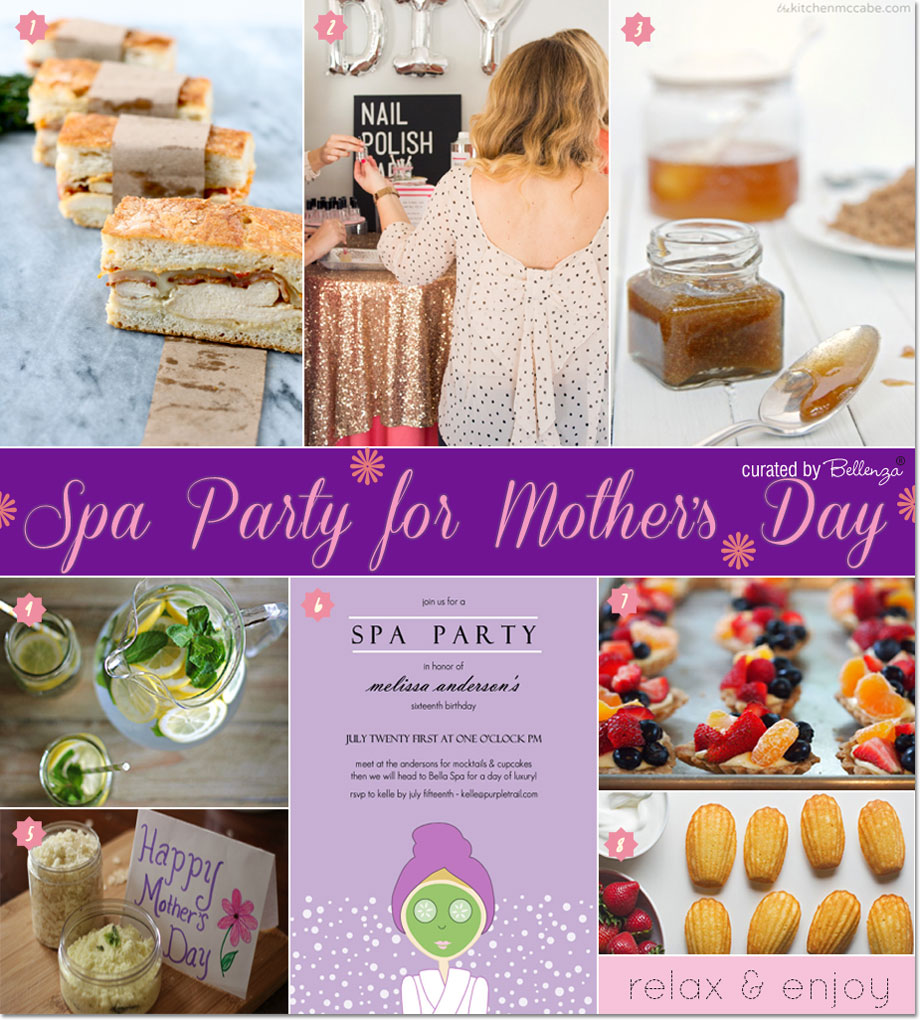 Spa Party for Mother's Day. Ideas from menu to spa party activities | as featured on the Party Suite at Bellenza.