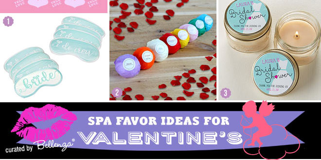 Spa favors for Valentine's day surprise party