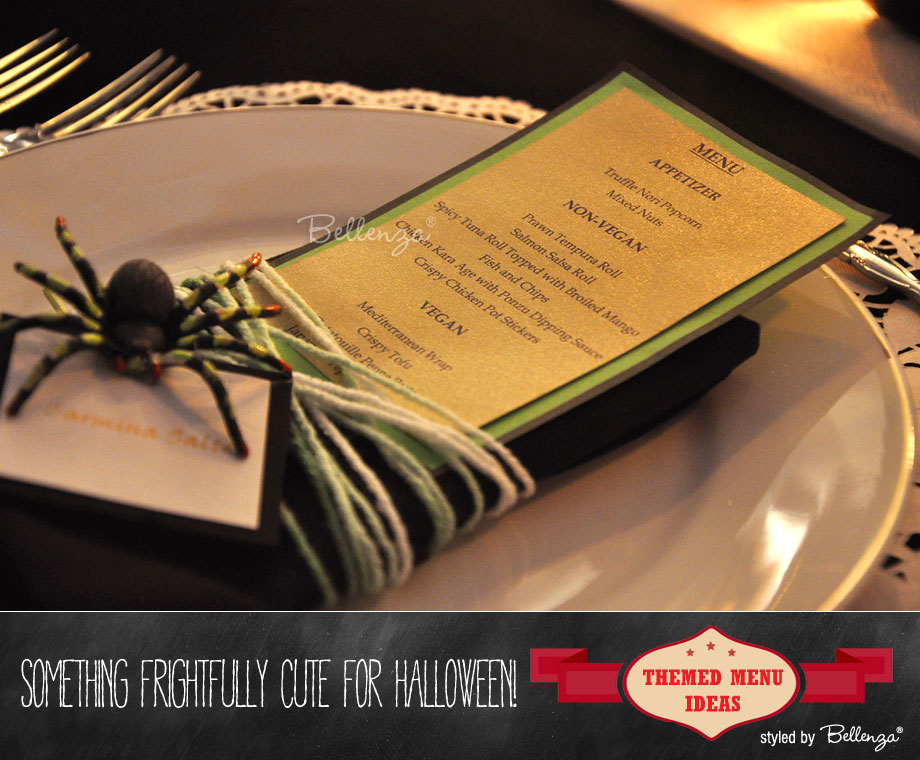 Spider Halloween Menu Card
