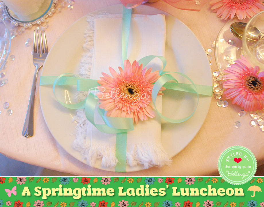 Springtime ladies luncheon decorations