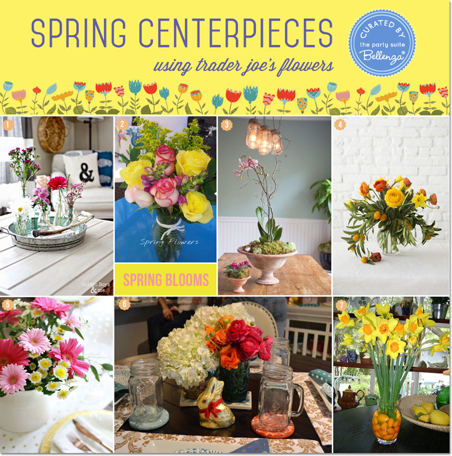Tips for DIY Spring Centerpieces with Trader Joe's Flowers