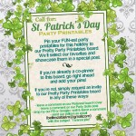 Call for St. Patrick's Day Party Printables