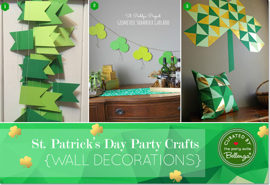 Party Crafts Go Geo, Gold and Green for St. Patrick's Day