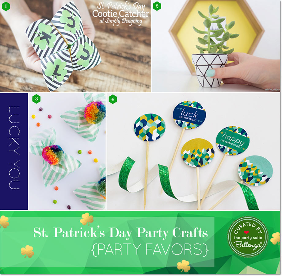 Modern St. Patrick's Day Favors and Treat Bags