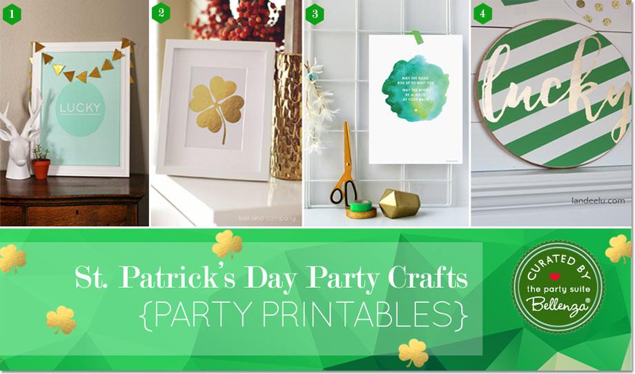 Modern St. Patrick's Day Printables