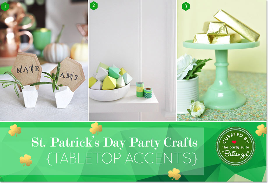 Modern St. Patrick's Day Tabletop Decorations and Place Card Holders