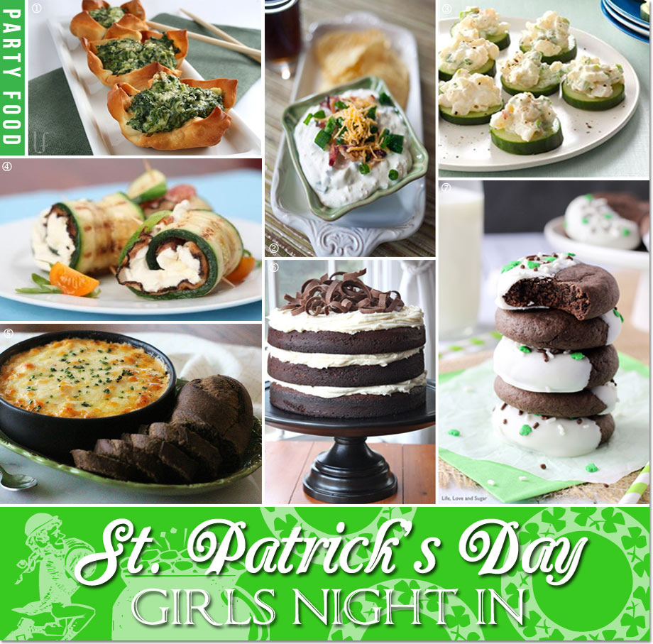 St. Patrick's Day Girls Night in Food and Dessert Ideas // curated by Bellenza.