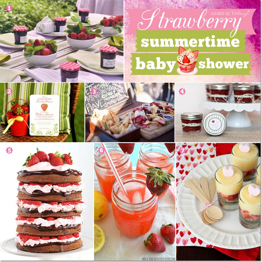 Tips for a Strawberry-themed Summer Baby Shower!