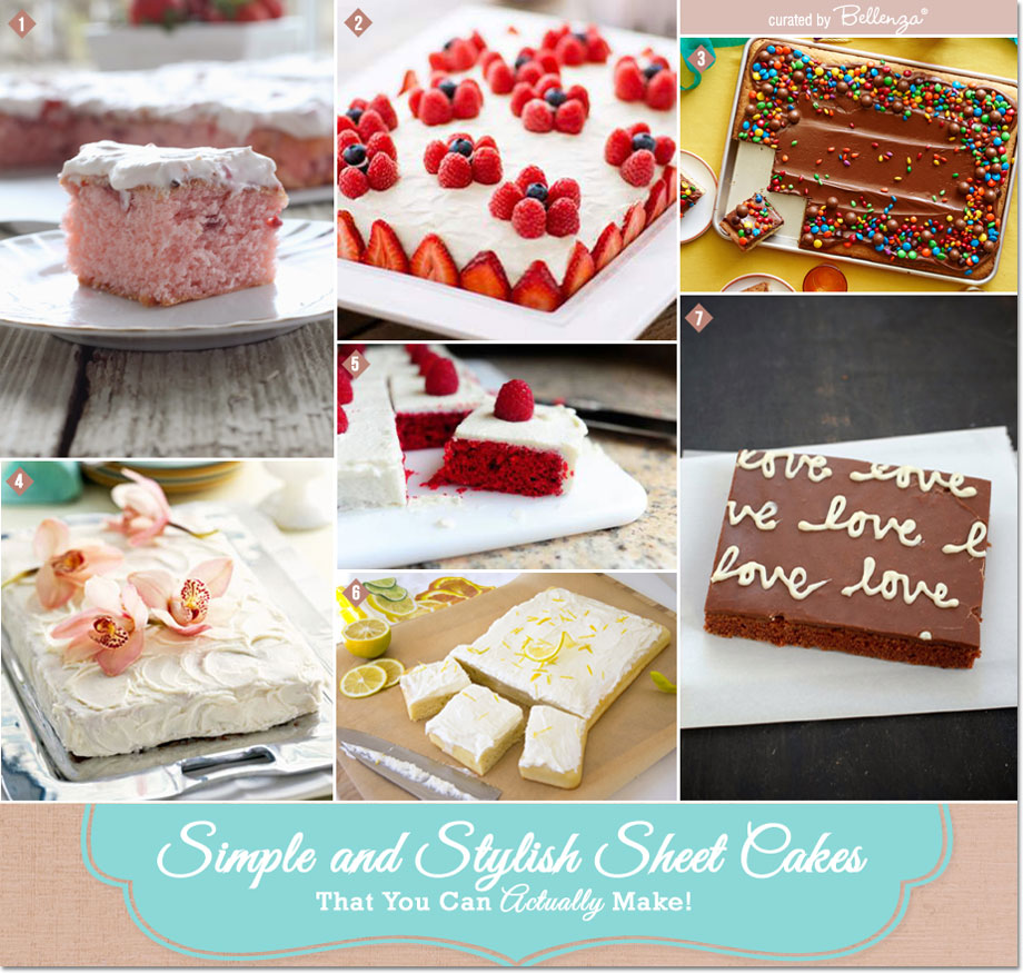 Simple and Stylish Sheet Cakes That You Can Make! #simplesheetcakes #homemadesheetcakes