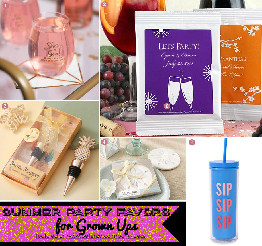 Summer drink themed favors for grown ups