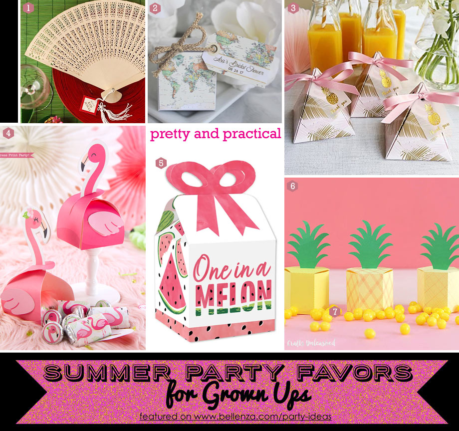 Practical summer favors for adults