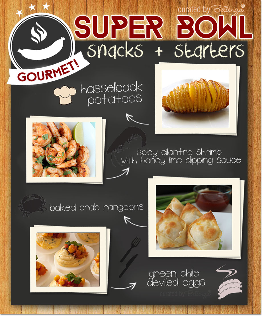 Super Bowl Gourmet Snacks and Starters from Crab Rangoon to Deviled Eggs!