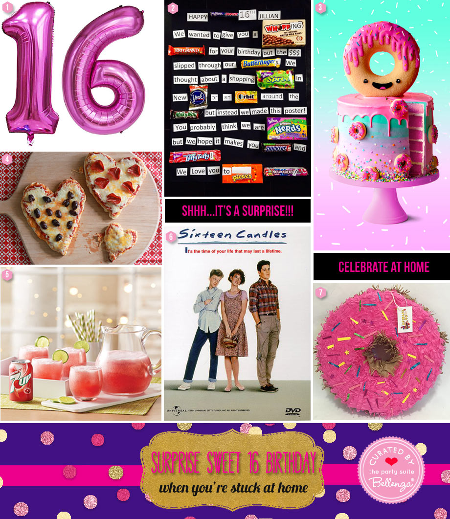 Surprise sweet 16 ideas when you are stuck at home