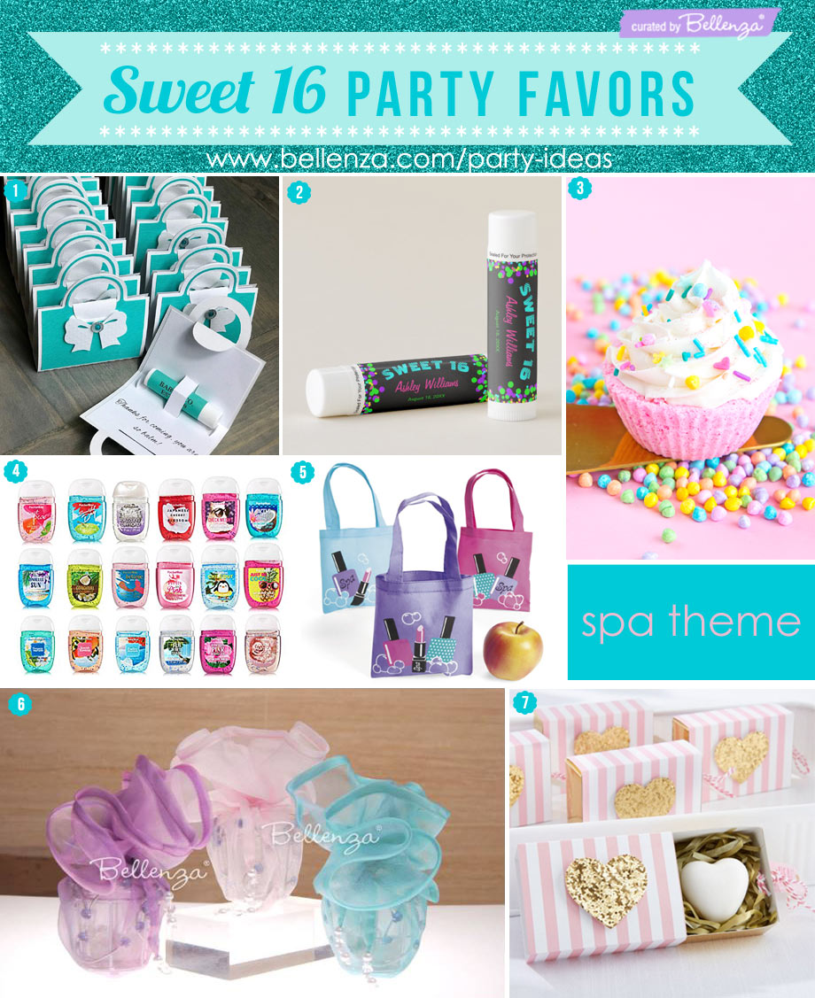 Sweet 16 cosmetics favors