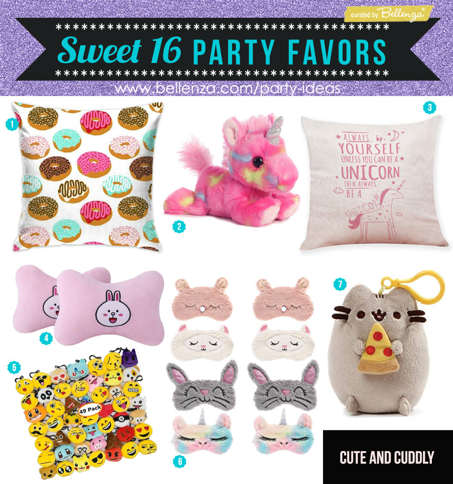 Sweet 16 Cuddly Favors