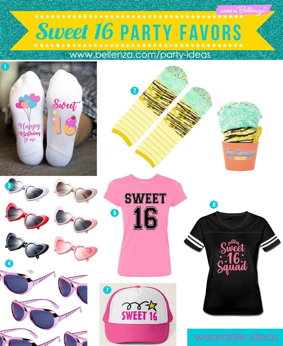 Sweet 16 favors to wear