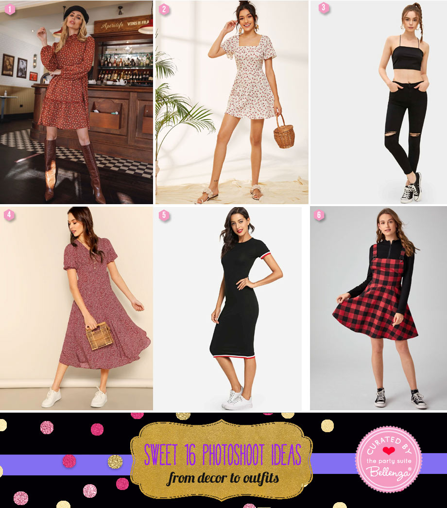 Outfits for a Sweet 16 Photoshoot