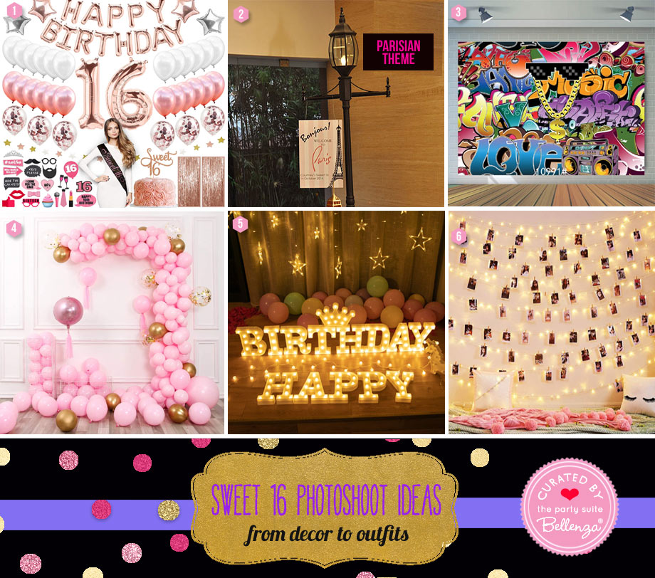 Sweet 16 Décor for Photoshoot