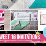 Cool sweet 16 invitations