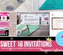 Cool sweet 16 invitations