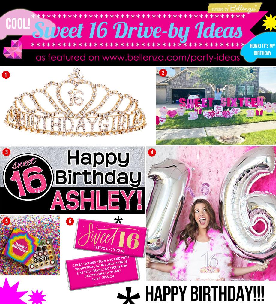 Sweet 16 Drive-by Birthday Parade Ideas