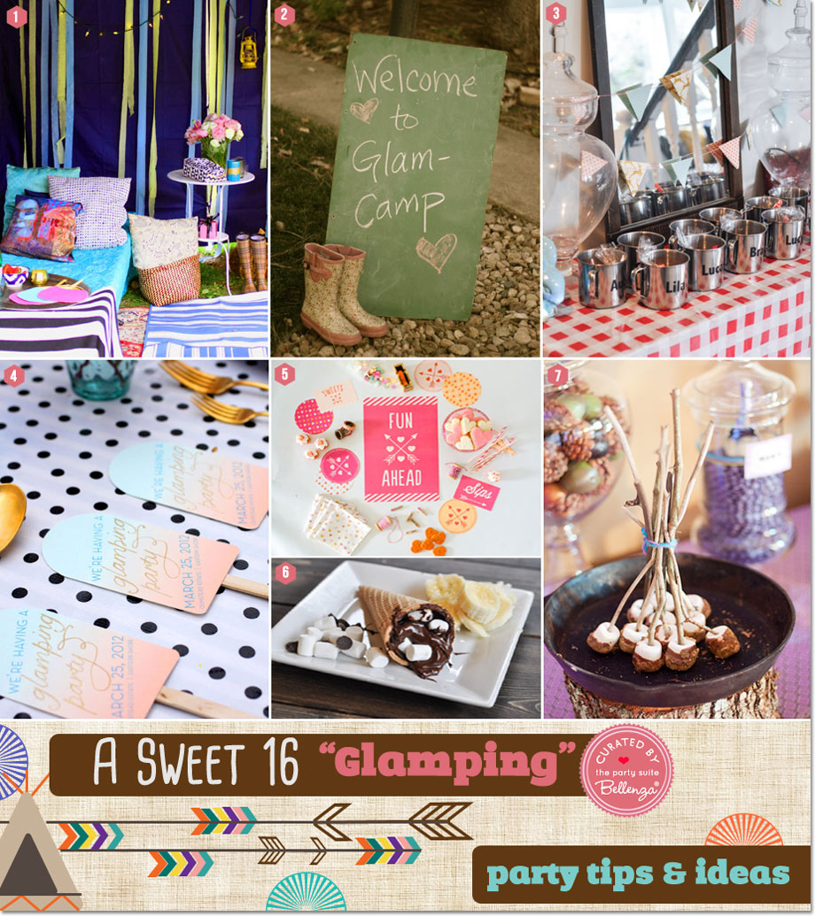 Glamping Sweet 16 Sleepover Ideas and Tips | Featured on The Party Suite at Bellenza