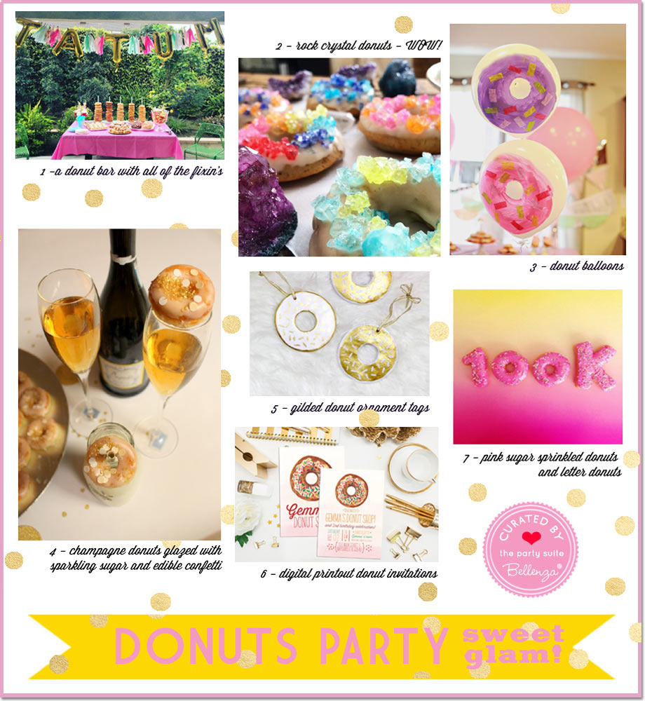 Glam + Sweet Donuts Themed Party Ideas
