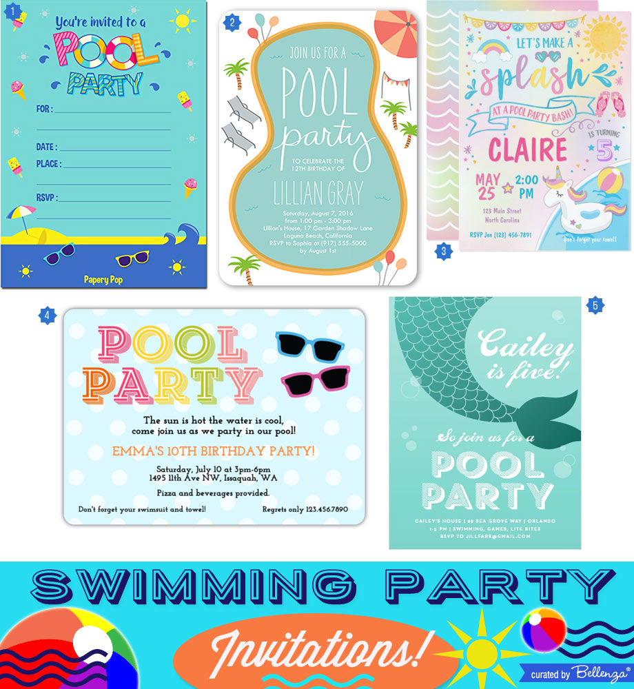 Swimming Party Invites to a Splashing Good Time