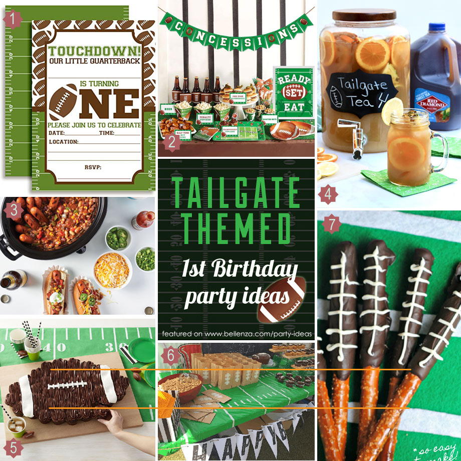 Tailgate 1st birthday for fall parties