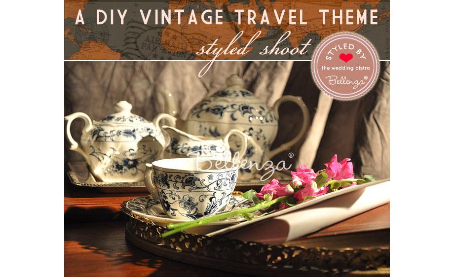 Delft blue tea pot and tea cup display on tray // Bellenza.