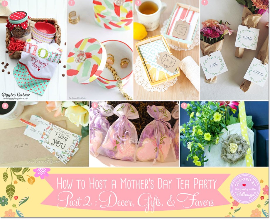 Tea party favors and gifts for Mother's Day Tea Party