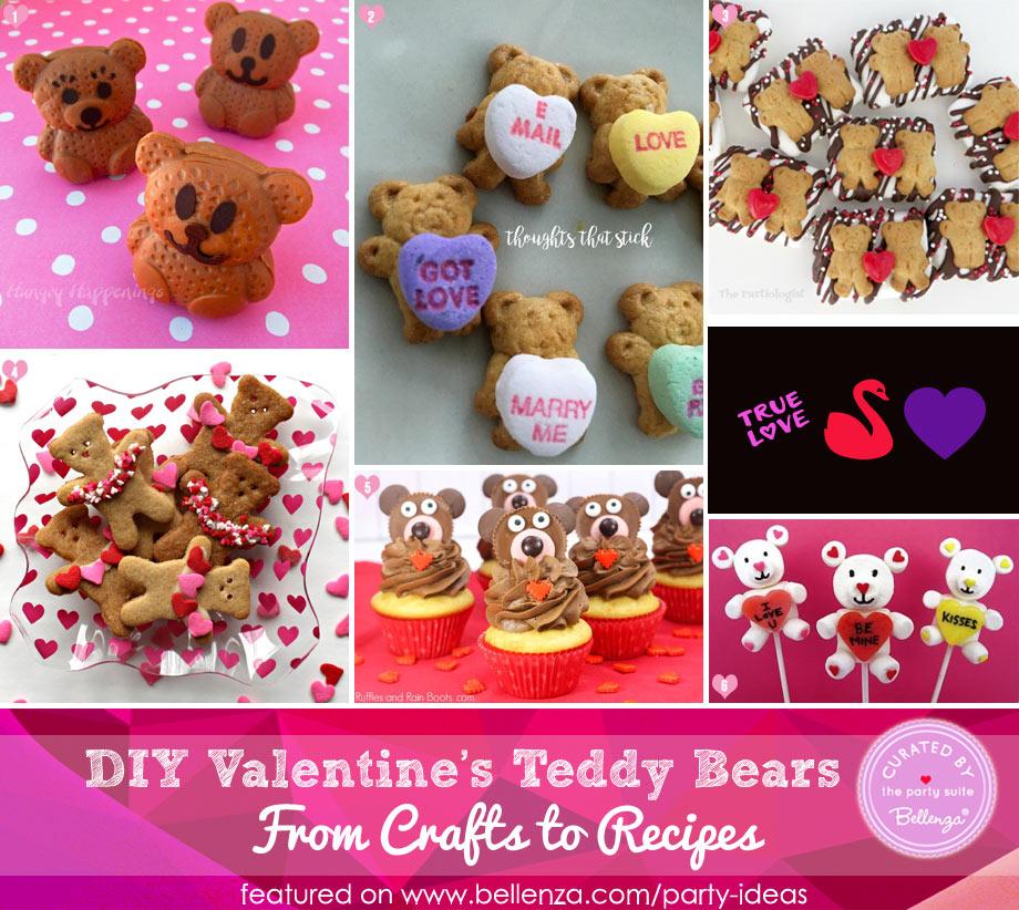 Valentine's teddy bear treats from fudge to cupcakes