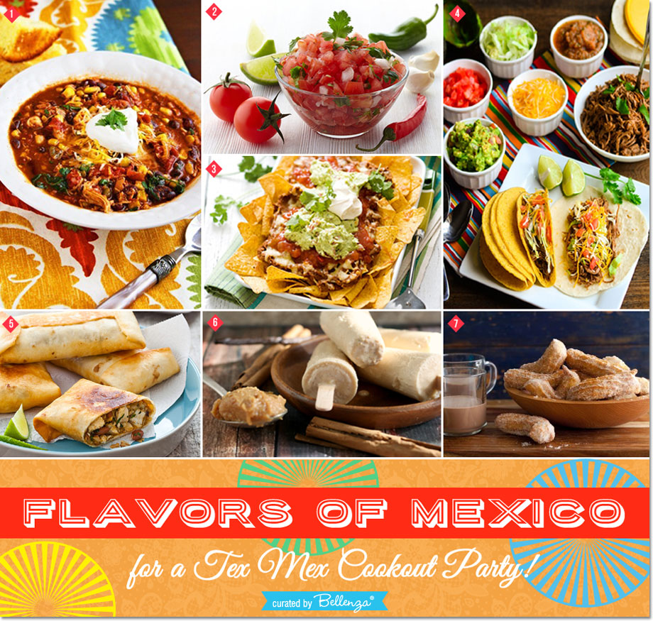 Throw a Tex Mex Party with Festive Food! Get Recipes for Planning a Delicious Affair Inspired by the Flavors of Mexico! #texmex