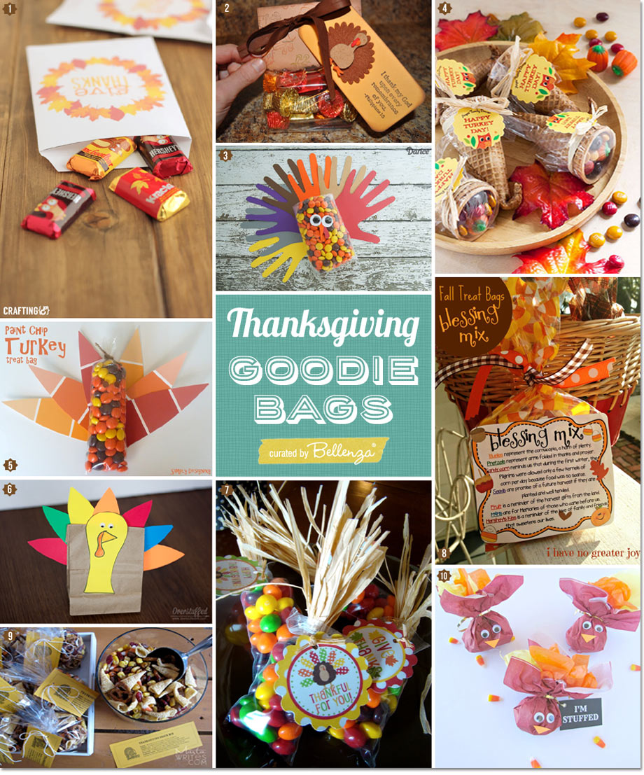 Thanksgiving Goody Treat Bags for Guests You Can Craft