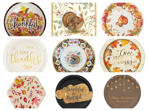 Elegant Thanksgiving Paper Plates