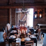 Rustic barn table setting by Ikea Sweden