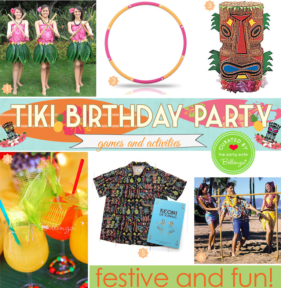 Tiki birthday party activities