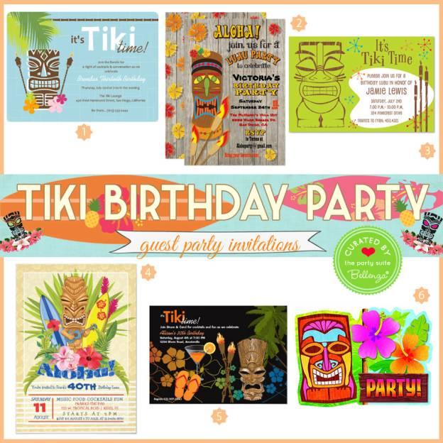 Summer Tiki Party Invites