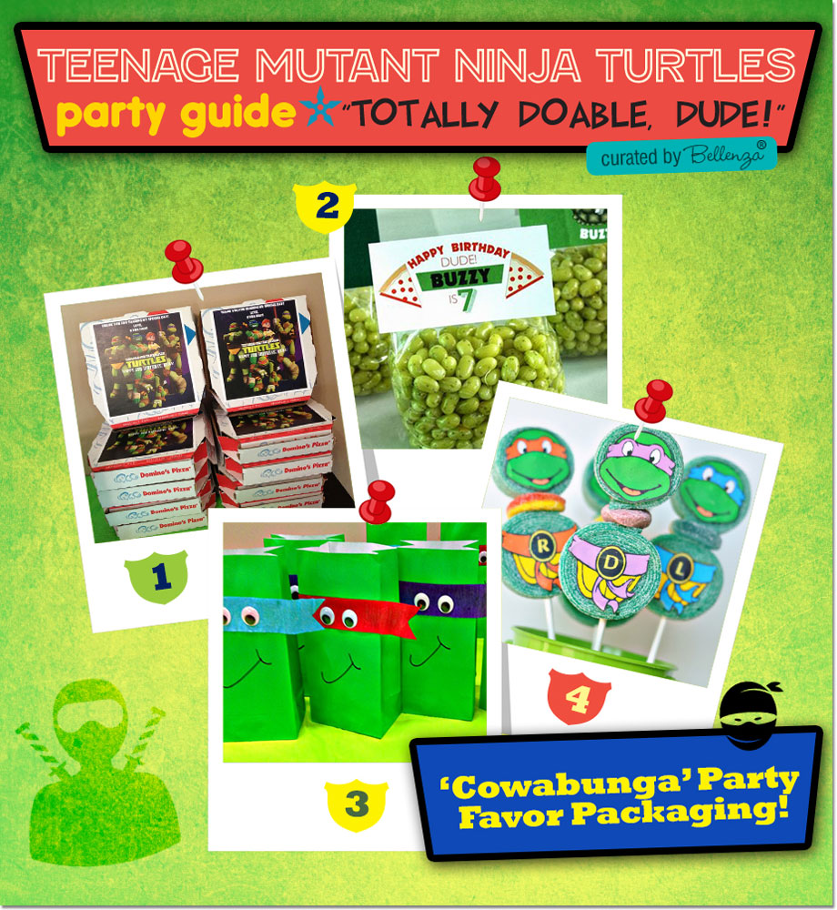 TMNT Party Favors and Packaging Ideas!
