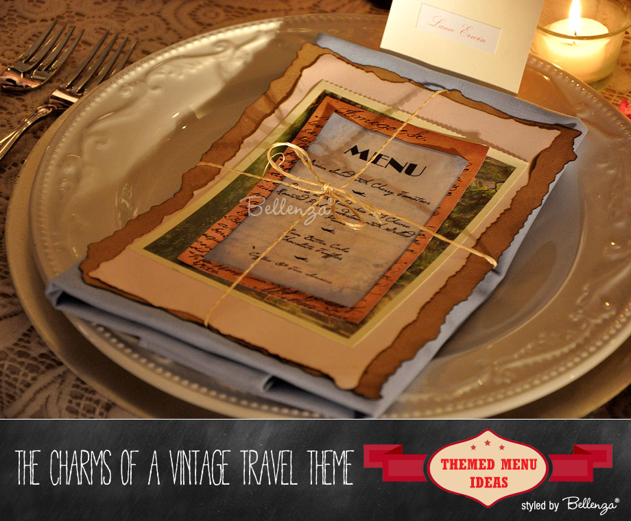 Vintage Travel Theme Card