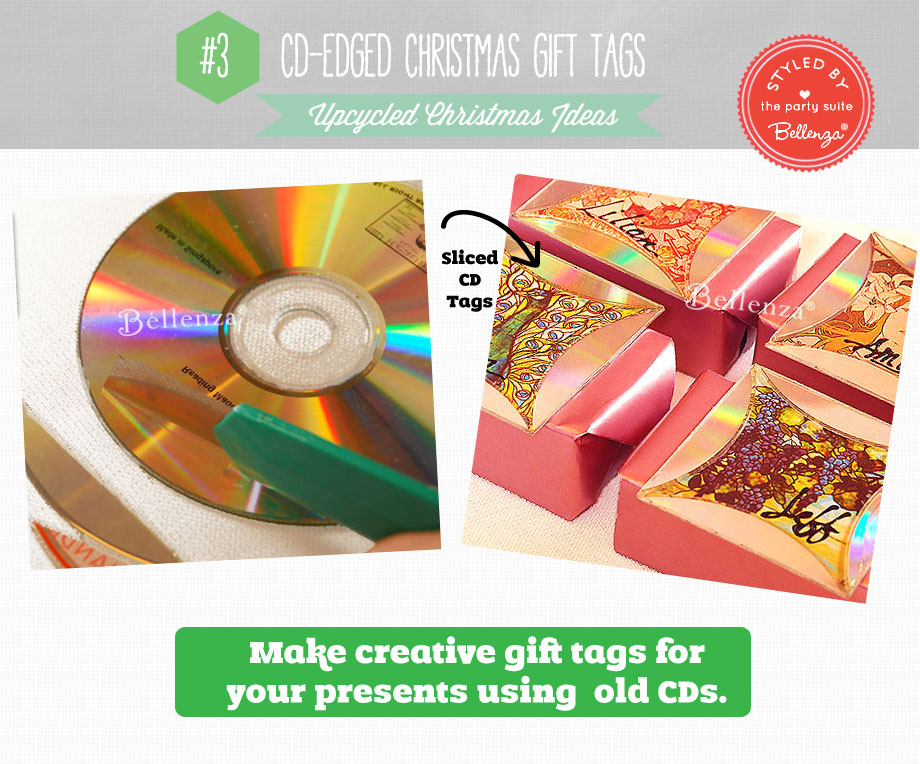 CD-edged Gift Tags for an upcycled Christmas | Bellenza