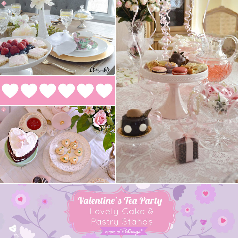 Valentine's Tea Party Featured Finds for Porcelain Cake and Pastry Stands