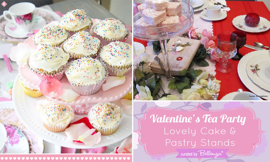 Pastry and Cupcake stands for Valentine's Day tea party