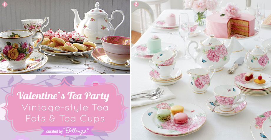 Valentine's Tea Party Featured Finds for Tea Pots and Fine China