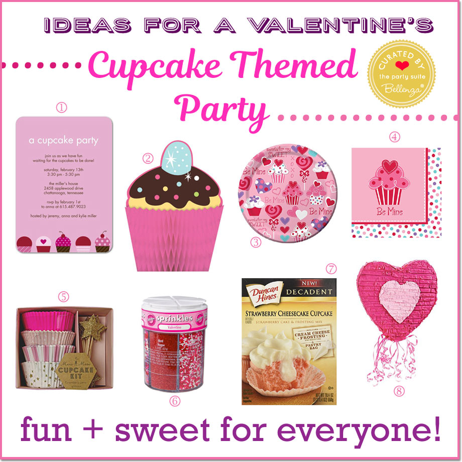 How to Plan a Valentine's Cupcake Party // Curated by Bellenza.