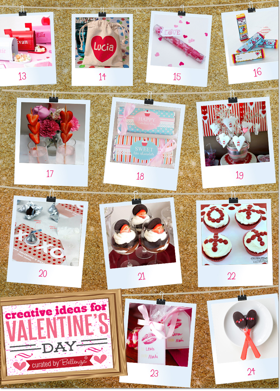 Valentine's Day Favors, Drinks, and Edible Goodies.