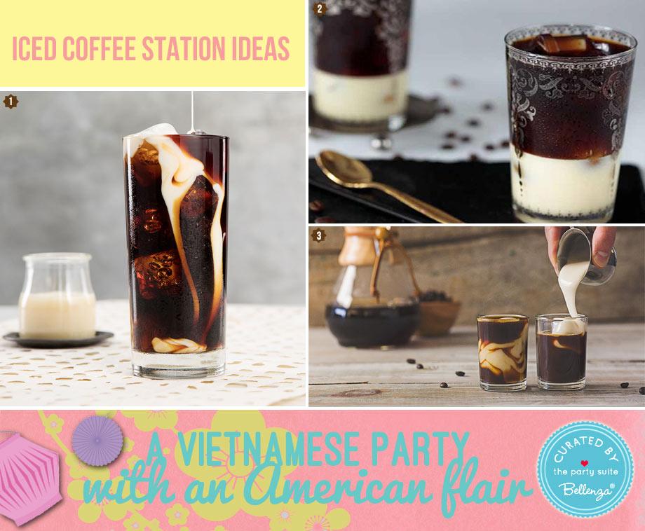Vietnamese iced coffee station