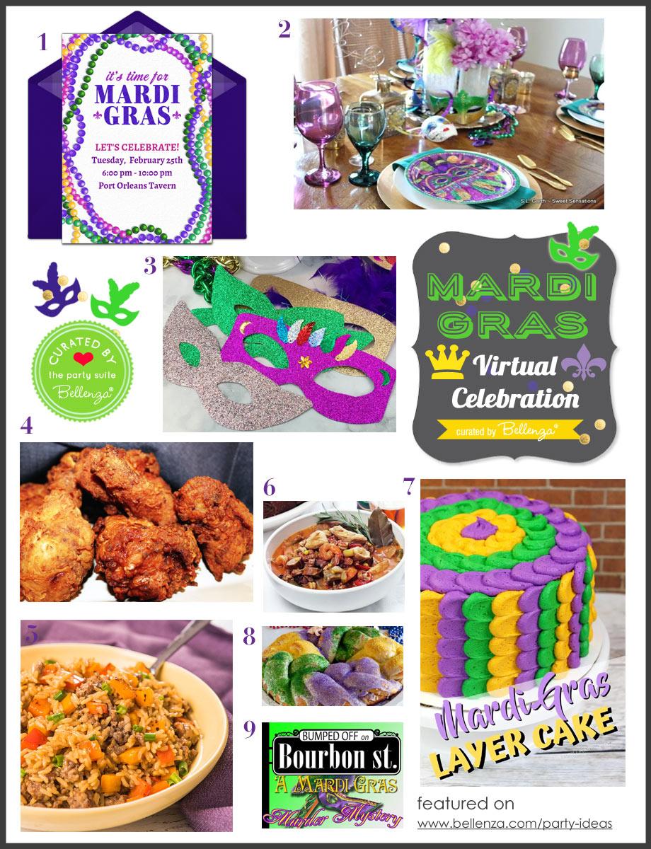 Virtual Birthday Party Basics with a Mardi Gras Spin