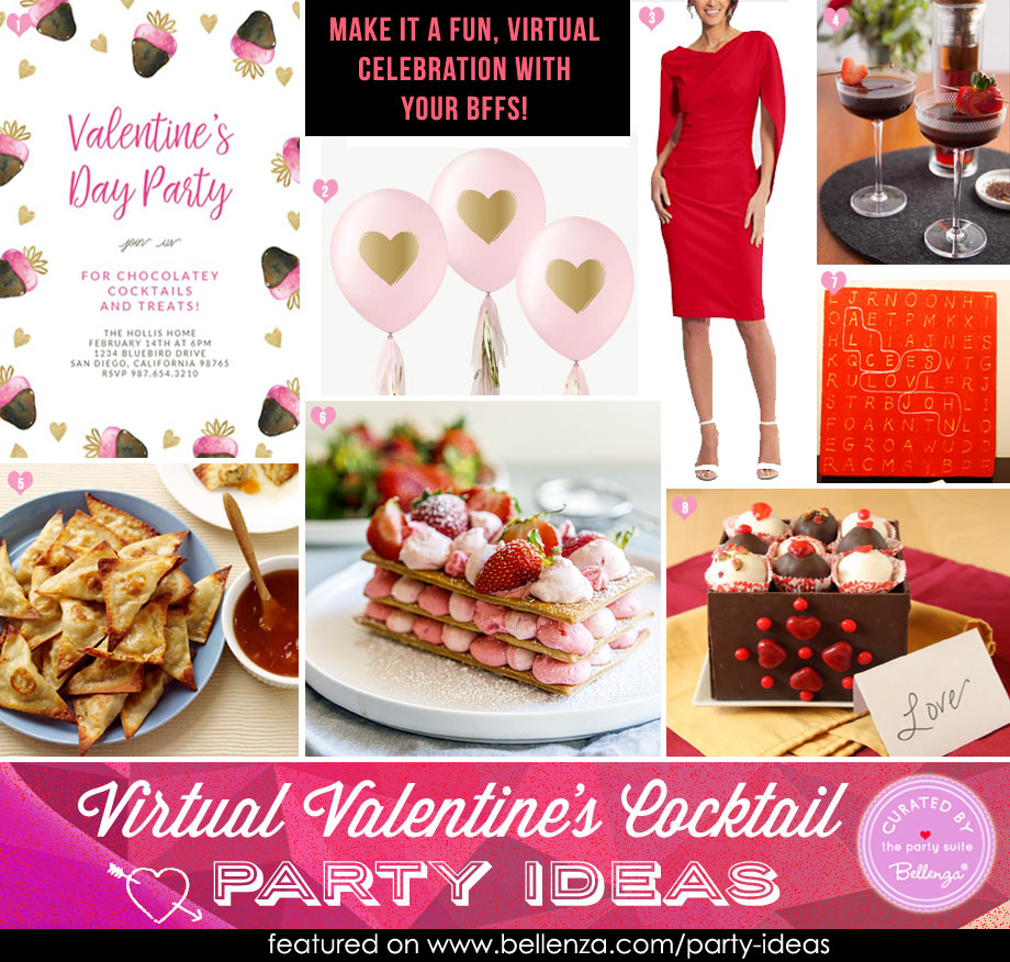 Easy Virtual Valentine's Cocktail Party