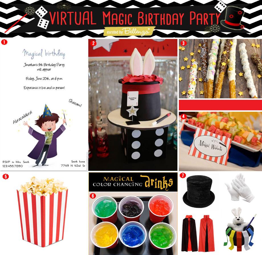 Virtual ZOOM Magic Themed Birthday